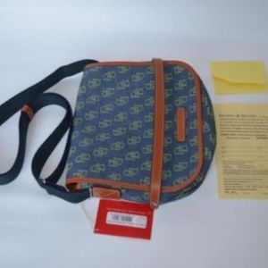 Dooney & Bourke Signature Print Denim Messenger